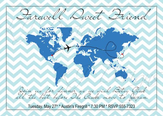 10 best invitations images on Pinterest Moving announcements - farewell party invitation template