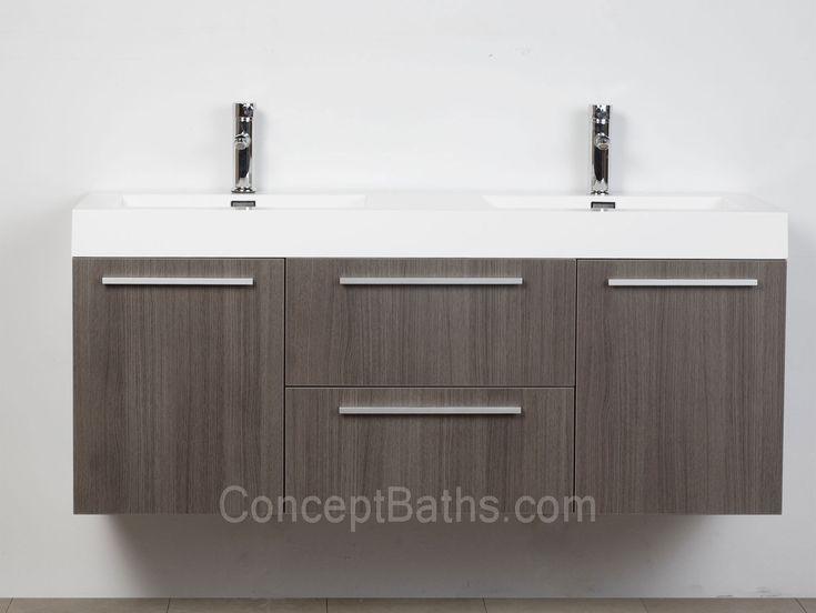 Grey Bathroom Sink Cabinets. Buy 54 inch Modern Double sink Vanity Set with Doors and Drawers  Grey Oak 23 best Bathroom images on Pinterest