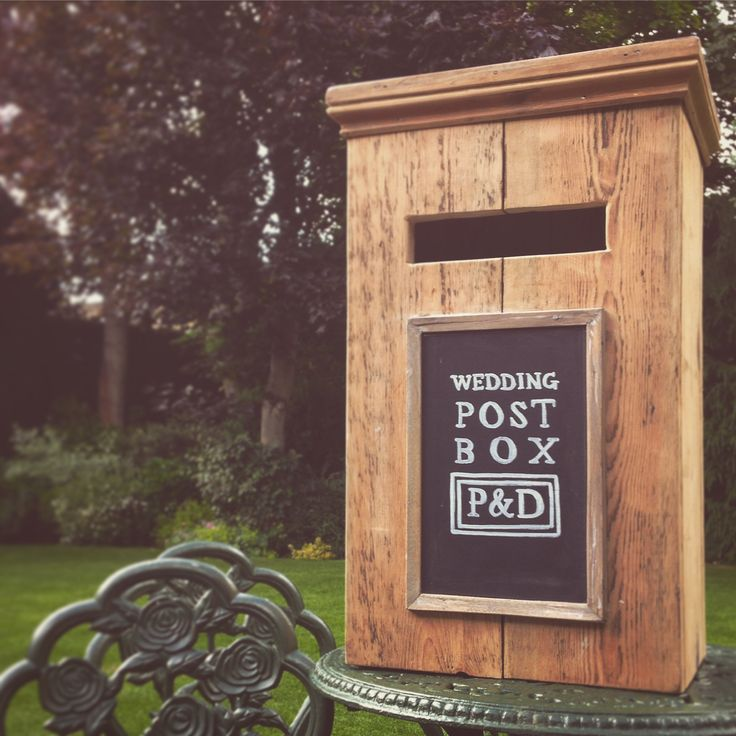 Rustic wedding post box