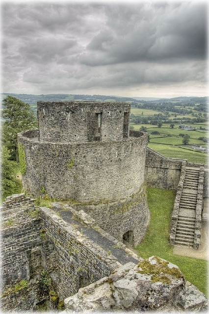 Dinefwr Castle is a Welsh castle overlooking the River Tywi near the town of Llandeilo, Carmarthenshire, Wales. Dinefwr became the chief seat of Rhodri the Great's grandson Hywel 'Dda' ap Cadell, first ruler of Deheubarth and later king of the Britons, king of most of Wales. Hywel my 32nd Great Grandfather.