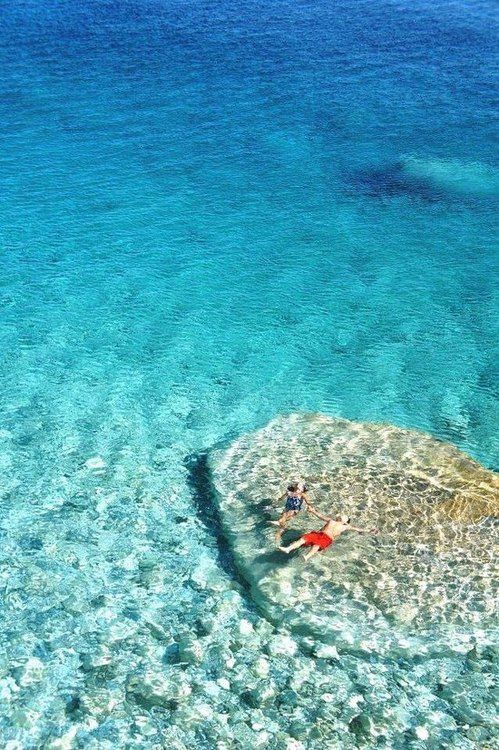 Relaxing waters of Ikaria, Greece