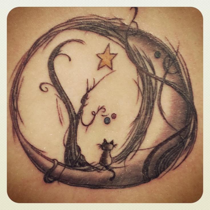 #moon #cat #tattoo