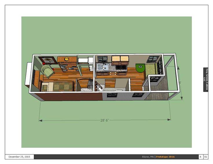 2016 prototype b tiny house ground floor bedroom for Prototype house plan