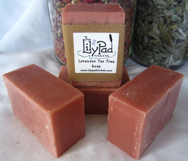 Top Seller! Lavender Tea Tree Soap. Delightfully scented vegan cold-process rose clay Eco gift affordable luxury, great lather