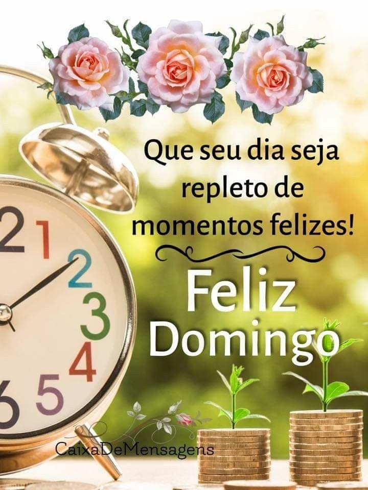 Feliz Domingo, Que o Seu Dia Seja Repleto de momentos felizes