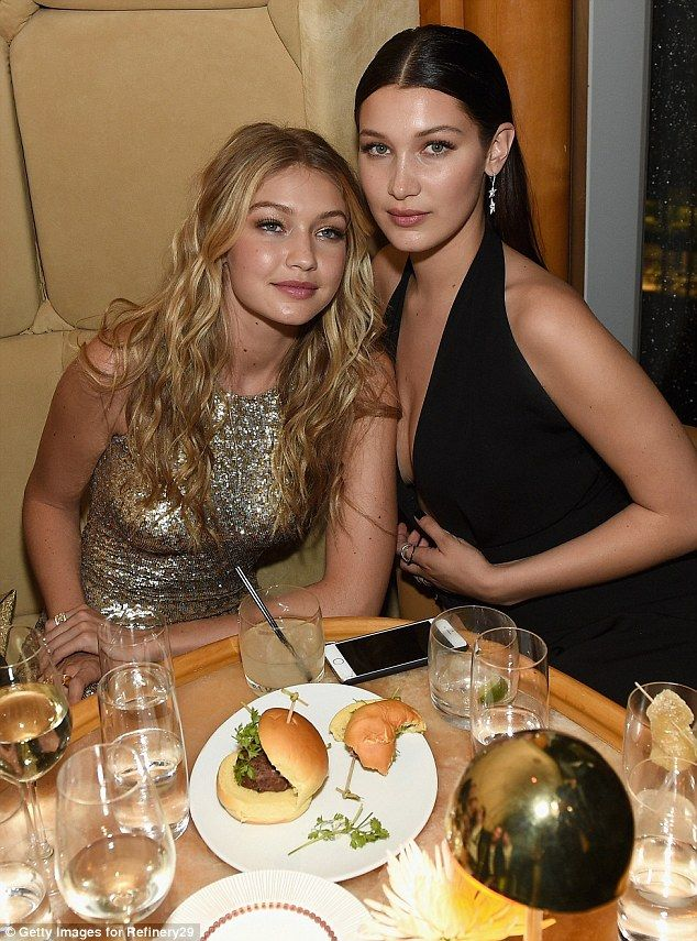 Stylish: Gigi and Bella Hadid were two of the fashion highlights at the annual event in New York City on Monday evening