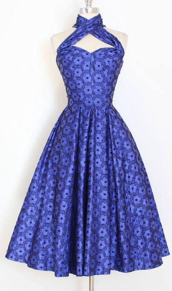 268 mejores imágenes de Blue Vintage Dresses en Pinterest | Moda ...