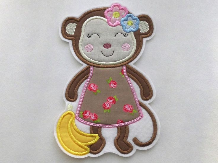 Aufnäher - Aufnäher - Affe XL - Affenmädchen -  Applikation  - ein Designerstück von Sticktraum bei DaWanda
