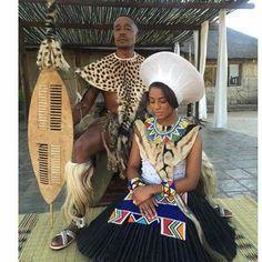 Bride&Groom #Zulu #weddingattire