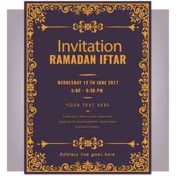 Free Vector Invitation Ramadan Iftar Greeting Card
