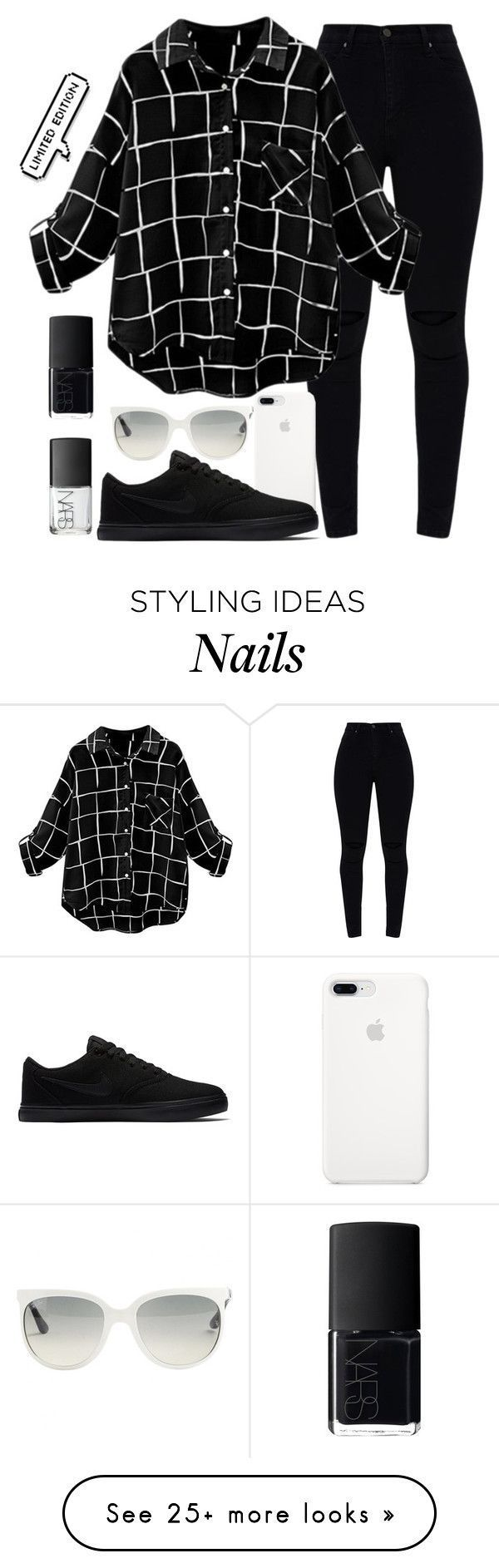 """""""Limited"""" by uunicornns on Polyvore with NIKE, Ray-Ban and NARS Cosmetics"""