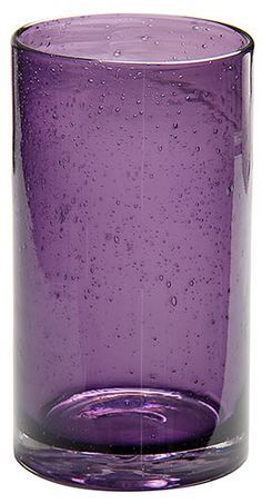 Bubble Purple Drinking Glasses