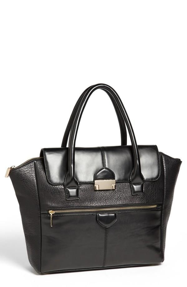 Love this faux leather satchel!