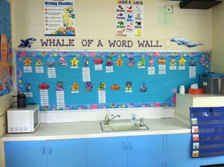 Ocean themed classroom- Whale of a Word Wall | Ocean ...