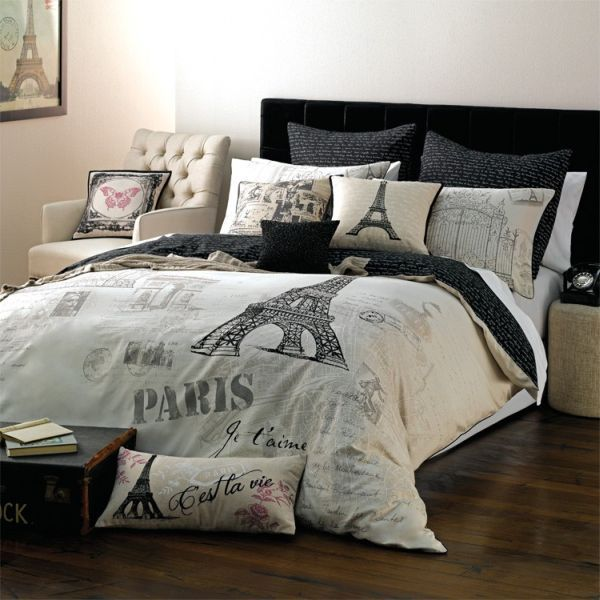 Paris Themed Bedding For Adults Trend Alert Chic Parisian Interior Accessories Bedroom
