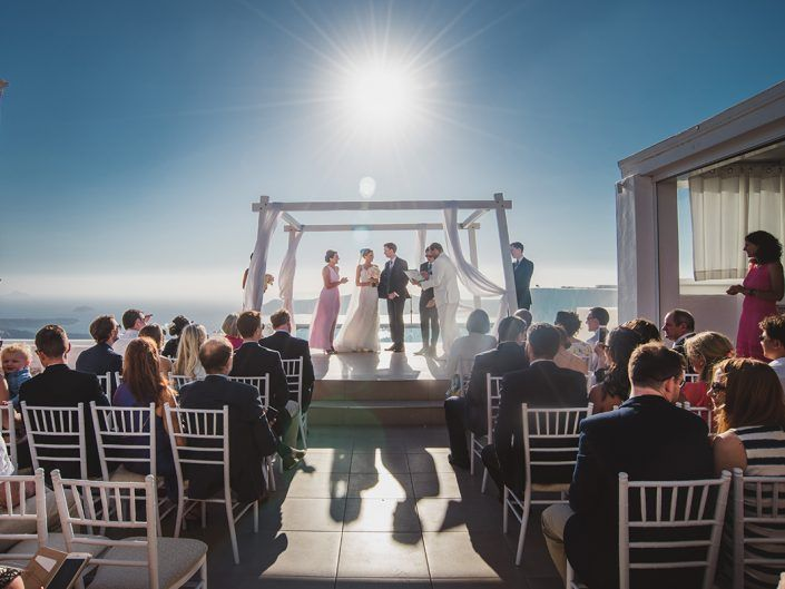 Alex & Jaclyn's incredible wedding in Santorini now on the blog!