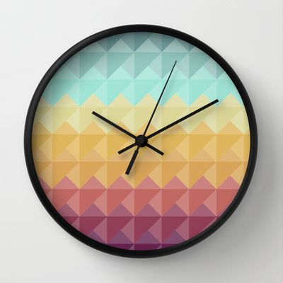 Retro Triangles Wall Clock by Refreshdesign