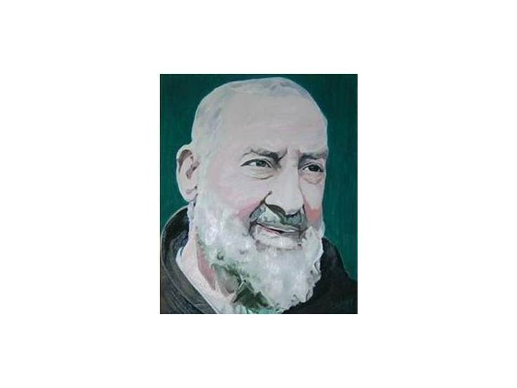 Padre Pio 2007 45 cm x 55 cm Oil on Canvas ( Óleo sobre Tela) http://www.heidisaigg.com/  Sold Out - Vendida