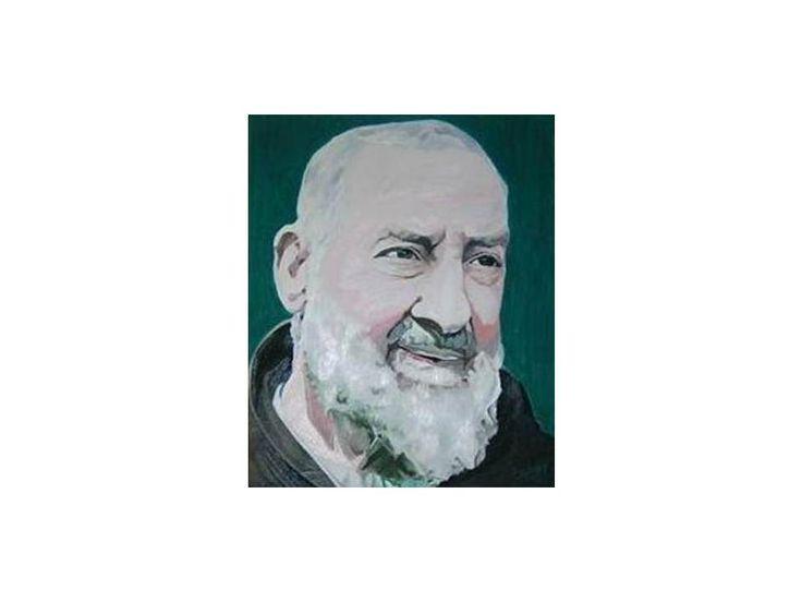 Padre Pio 2007 45 cm x 55 cm Oil on Canvas ( Óleo sobre Tela) www.artsaigg.com Sold Out - Vendida