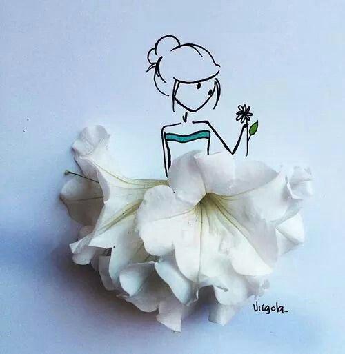 Vejo flores em vc