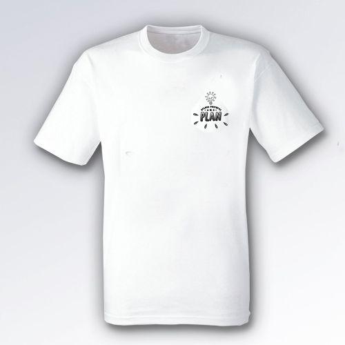 (PREORDER) Koszulka męska biała PLAN małe logo