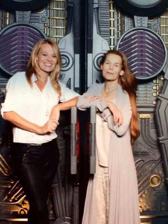 ~ Actresses Jeri Ryan and Alice Krige who played Borg drone Seven of Nine and the Borg Queen respectively on Star Trek Voyager. ~