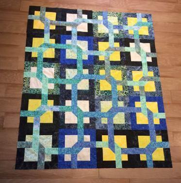 Tropical Puzzle Quilt Top