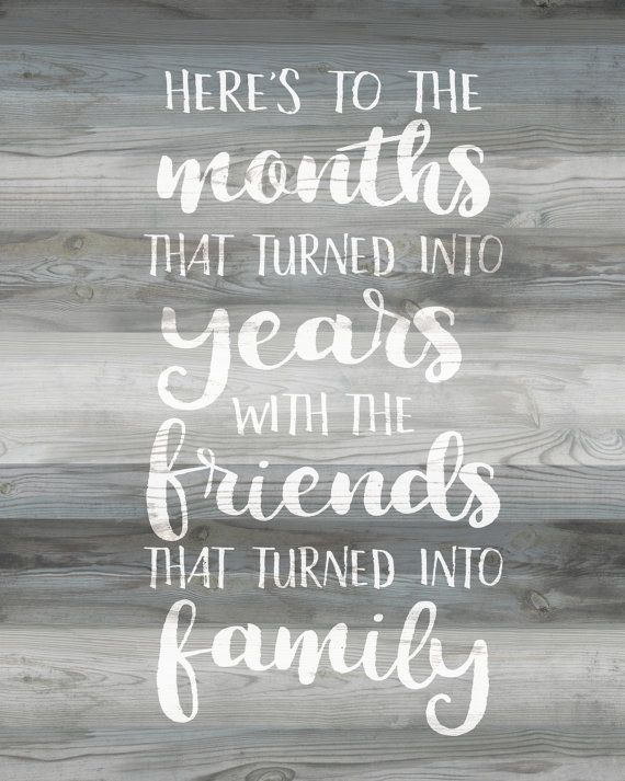 Friendship Quote Gray Wood Friends Quote Print Wood Sign