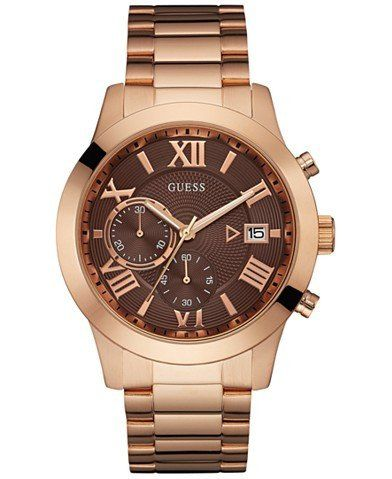 GUESS Women's Chronograph Rose Gold-Tone Stainless Steel Bracelet Watch 44mm U0668G1