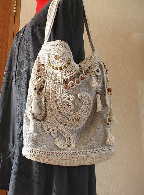freeform crochet bag http://www.livemaster.ru/item/3929045/sumki-aksessuary-letnyaya-sumka-v-stile-boho