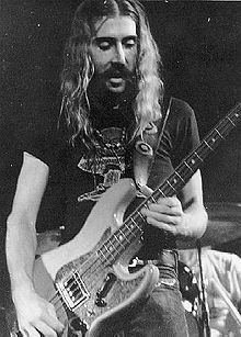 """Berry Oakley (Allman Brothers Band) with the """"tractor bass"""""""