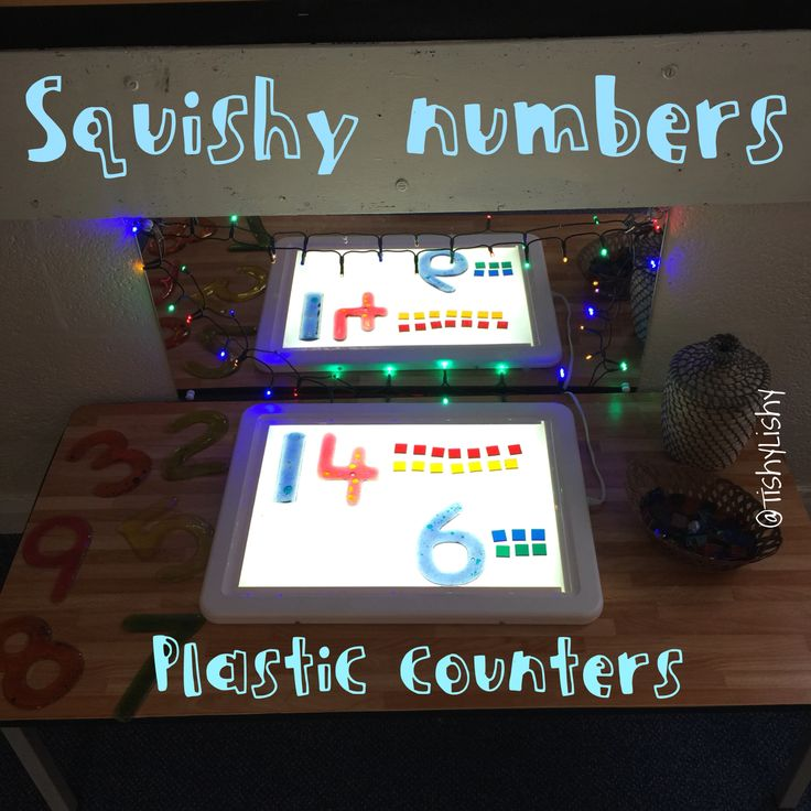 Counters and numbers on the light panel