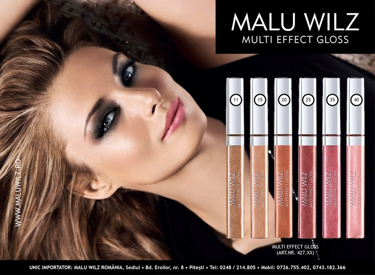 MULTI EFFECT GLOSS are available at MALU WILZ ROMANIA! MALU WILZ Products are manufactured in Germany! www.maluwilz.ro