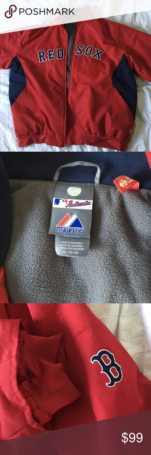 Red Sox Coat Authentic MLB Boston Red Sox coat in XL, in excellent condition, worn once. Nike MLB Jackets & Coats