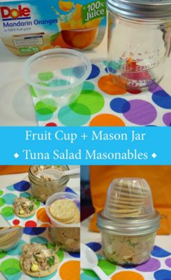 Dole Snack Fruit cups can fit on mason jar lids for the perfect snack container.  DIY Home Sweet Home: 50 Random Tips Everyone Should Know