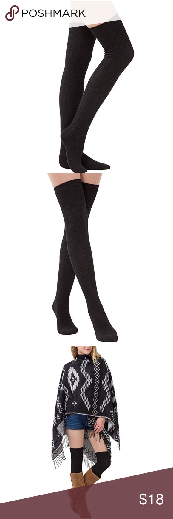 """Tall over the knee sock for boots 🎆Price Firm. 🎆Features Women Over the Knee High Socks-Knitted Leg Warmers: 80% cotton, 20% stretch yarn Imported Women Knee High Socks Pullon closure. Over the Knee High Socks measure 25 """", Fits shoe size 6.5""""-10.0"""". Shoes Over the Knee Boots"""