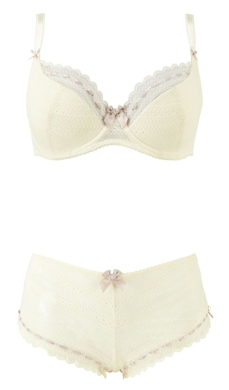 Liliana 1/2 padded plunge bra and short