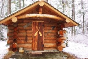 Jensen log sauna--gorgeous.