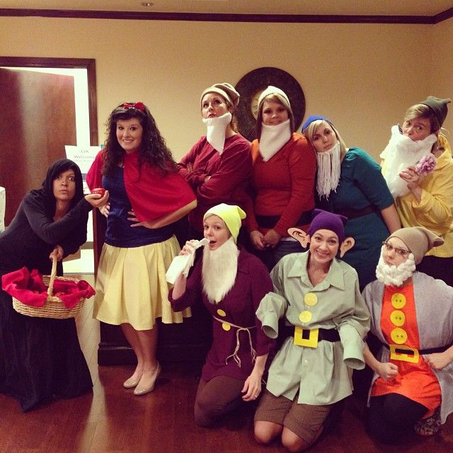 Snow White Seven Drawfs Evil Witch Halloween Costume Office