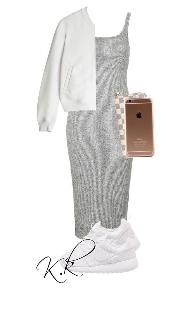 """""""Untitled #159"""" by kirstiekonadu ❤ liked on Polyvore featuring Topshop, NIKE, T By Alexander Wang and Louis Vuitton"""