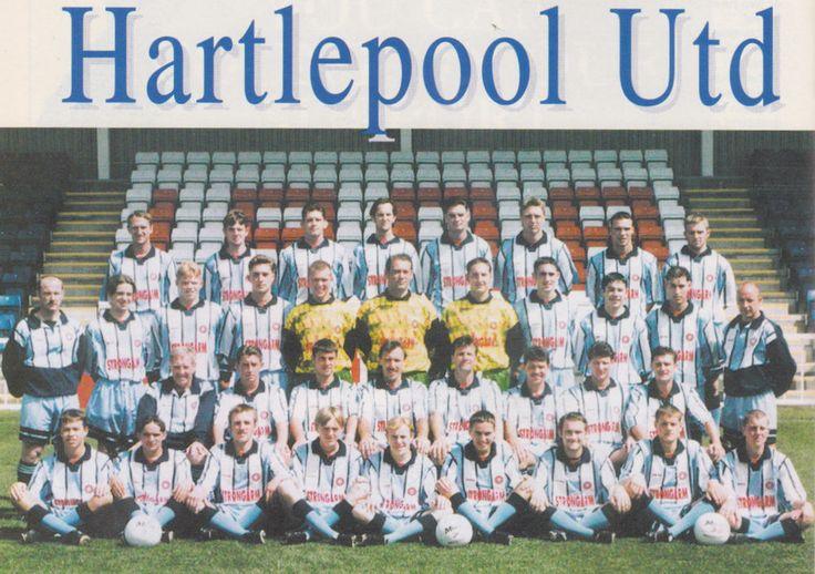 HARTLEPOOL UNITED FOOTBALL TEAM PHOTO 1995-96 SEASON
