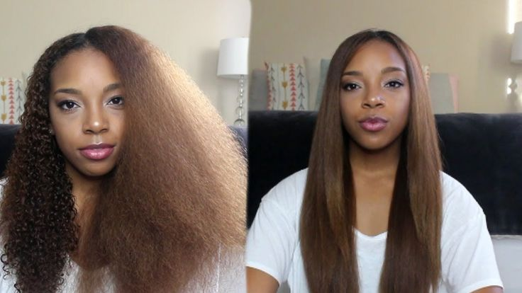 Curly to Straight Hair Tutorial [Video] - https://blackhairinformation.com/video-gallery/curly-straight-hair-tutorial-video-2/