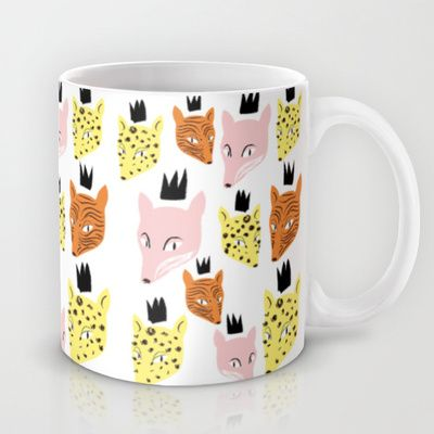 N°9 Mug by caroline drogo - $15.00 #carolinedrogo #mywork #mug #fox #tiger