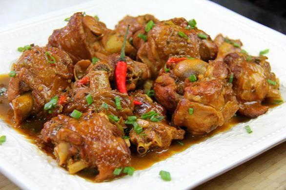 Stewed Turkey Wings Recipe.