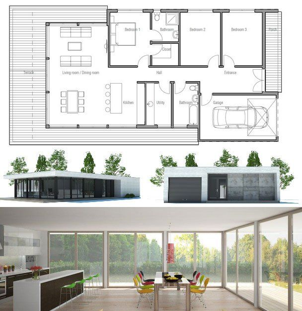 94 best Prefab Homes images on Pinterest   Modular homes, Small ...