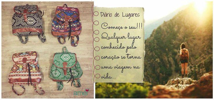 Recadinho da @loja_amei  Pegue sua mochila @loja_amei  #mochila #lojaamei #conhecer #lugares #vidalivre #amor