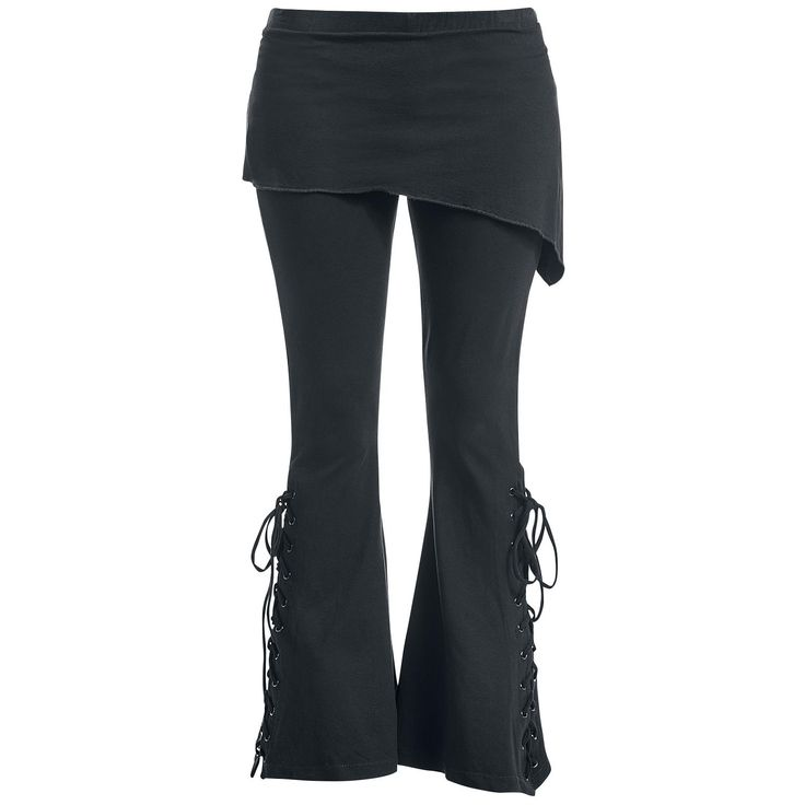 Bootcut Leggings - Leggings by Gothicana by EMP