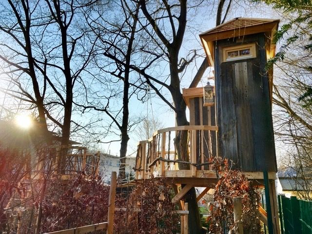 Tree House Plans For Two Trees 56 best kids' playhouses on trees images on pinterest | playhouses