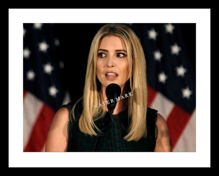 IVANKA TRUMP 11X14 PRINT with US FLAG; DONALD TRUMP DAUGHTER | Collectibles, Historical Memorabilia, Political | eBay!