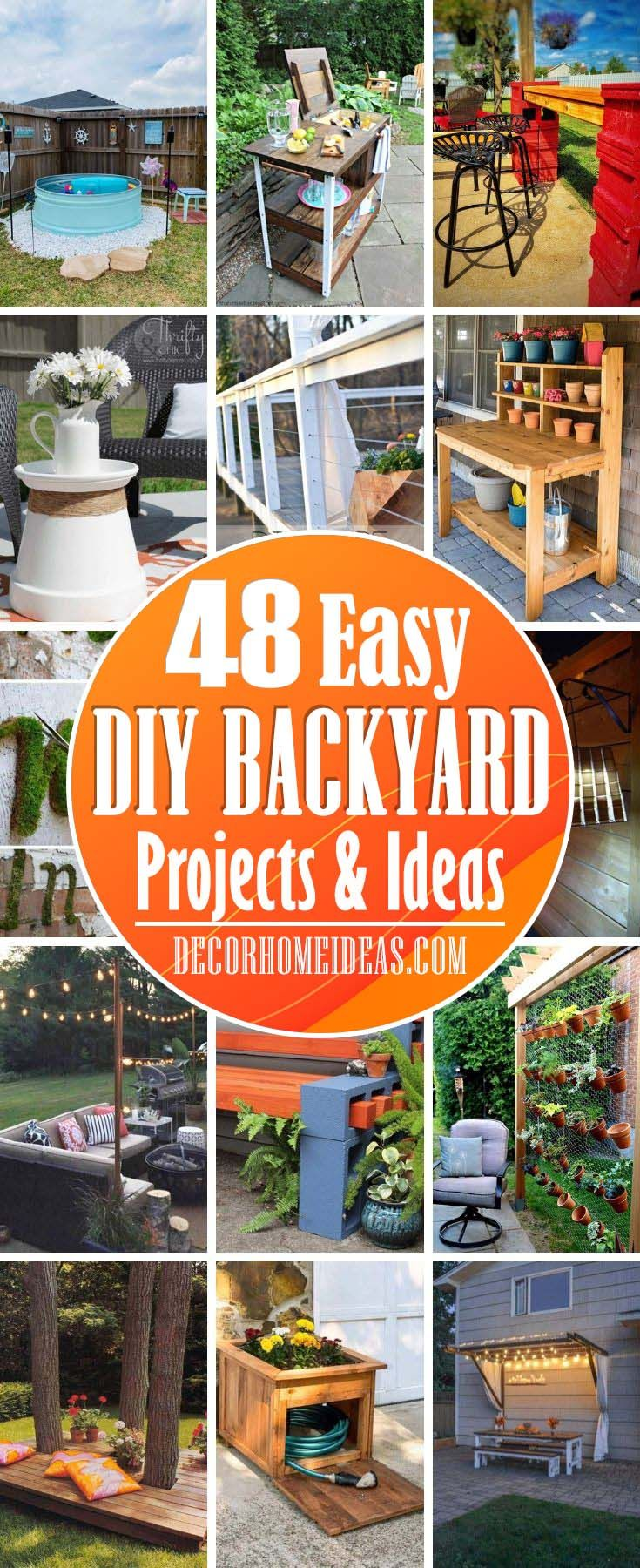 48 Best Diy Backyard Ideas That Are So Easy To Copy Backyard Projects Backyard Diy Projects Diy Garden Projects